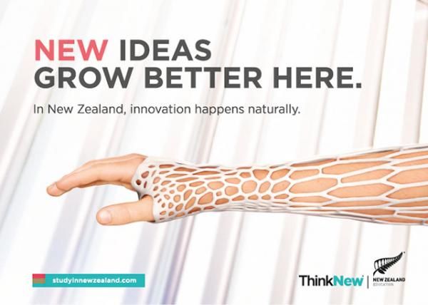 NEW ideas grow better here.  Think New.  New Zealand.