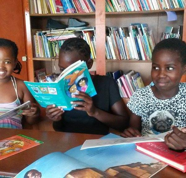 Kids reading and learning