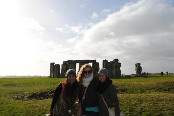 London SAE students on excursion to Stonehenge