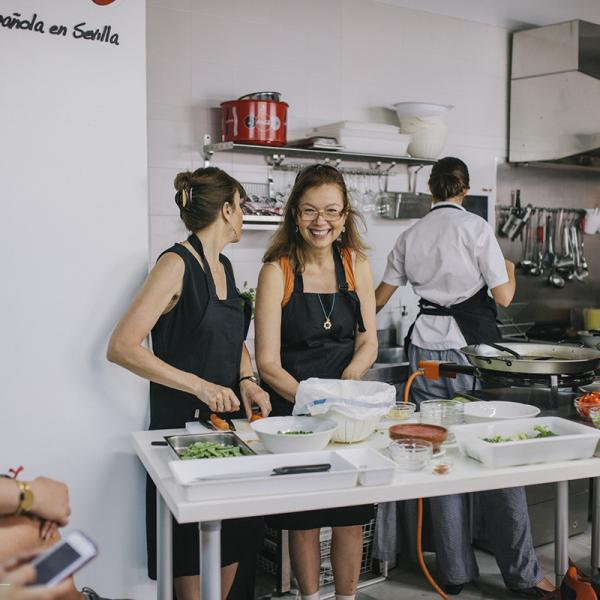Spanish cooking workshop with AP Spanish teachers in Sevilla, Spain