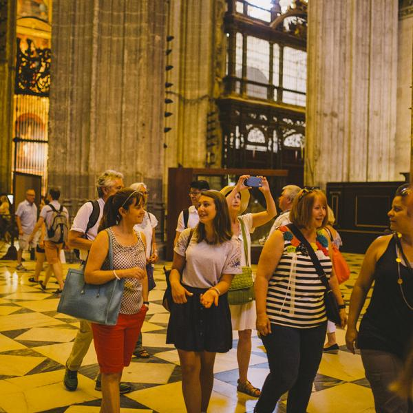 AP Spanish teachers visiting the Cathedral in Sevilla, Spain