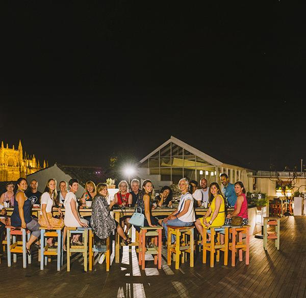 Tapas night with AP Spanish teachers in Sevilla, Spain