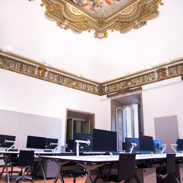 One of the architecture studios in Palazzo Santacroce.