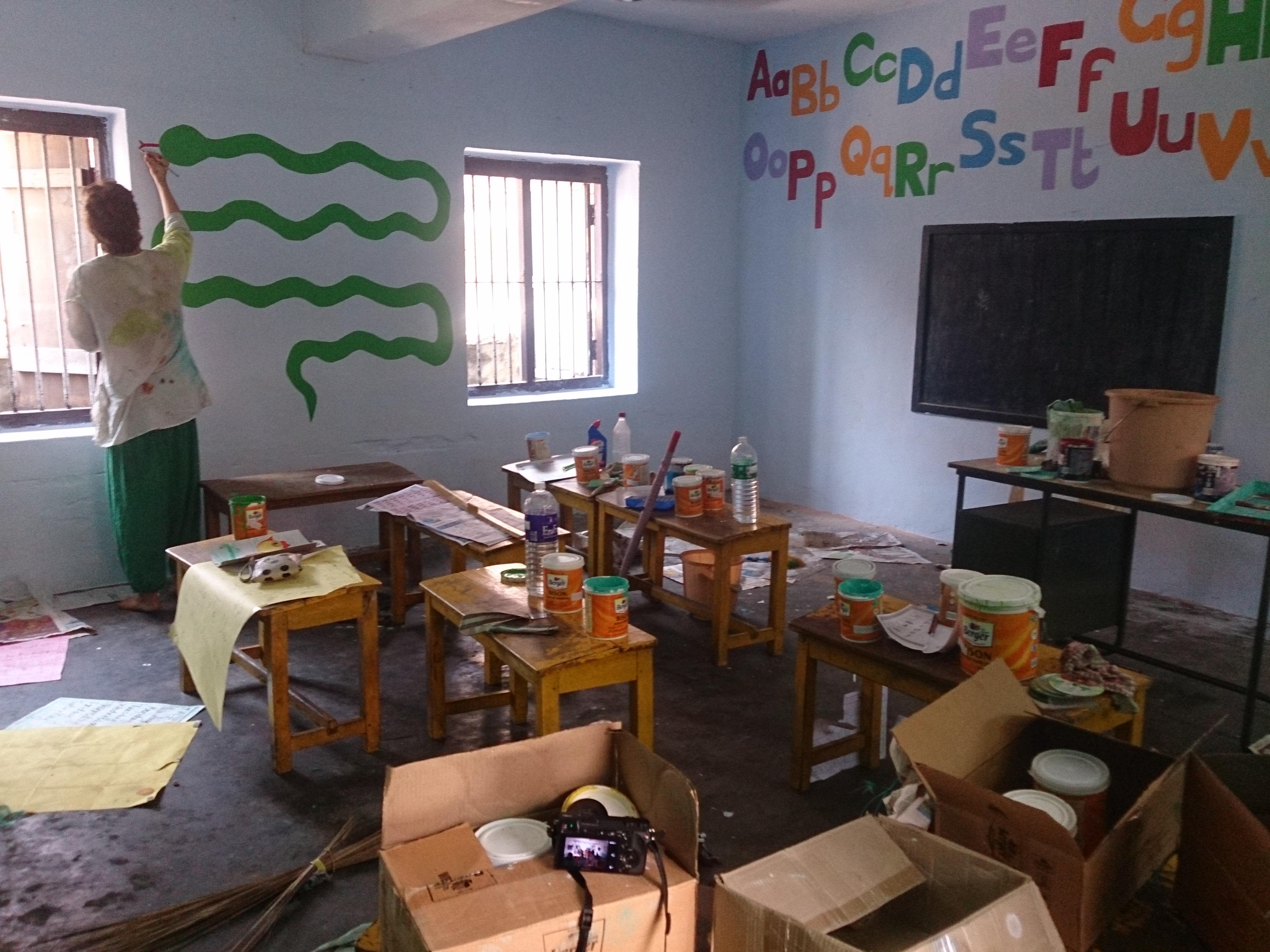 school renovations volunteering