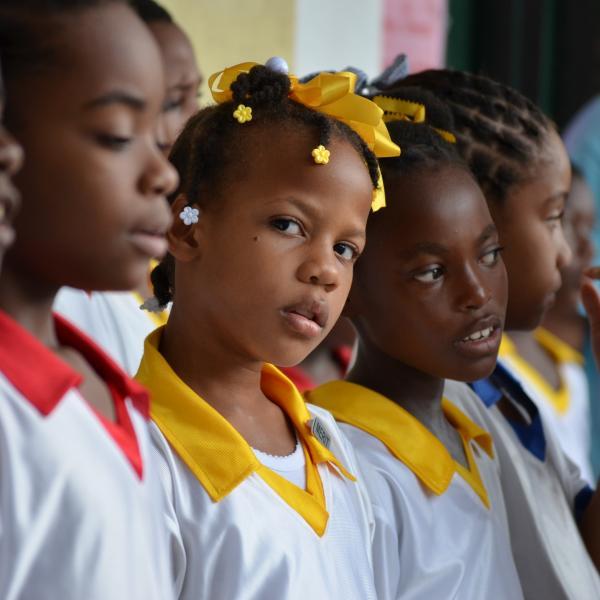 Students in Anse la Raye, St. Lucia
