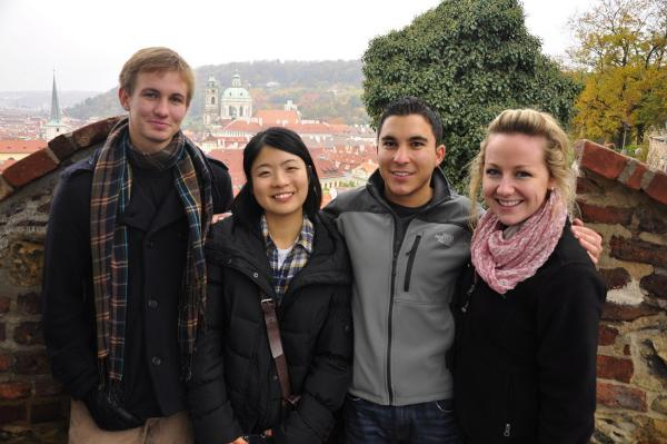 Students enjoying over 25 days of independent travel during the CIMBA semester program