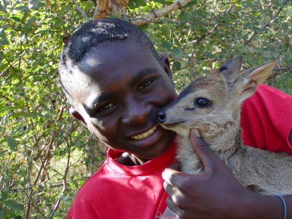 wildlife, children, animals, education, environment, duiker, Africa, South Africa