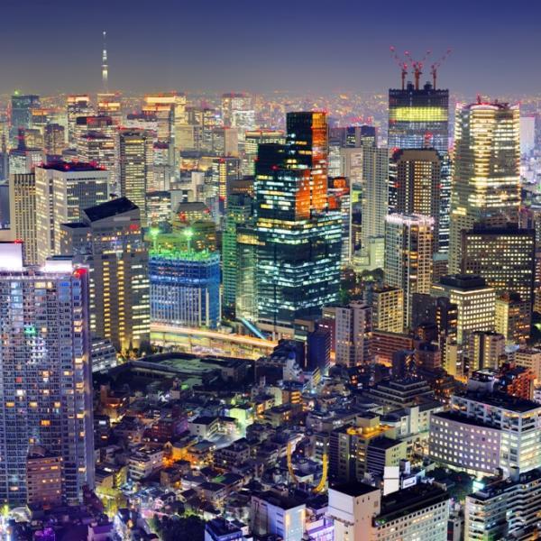 Tokyo, Japan at Night