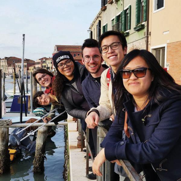 Cornell in Rome students visit Venice in spring.