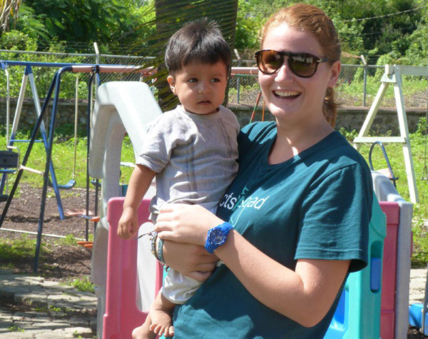 Projects Abroad volunteer on a care work project in Ecuador