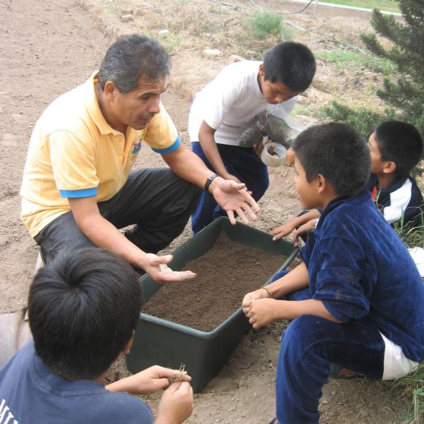 Work on gardening projects in Peru