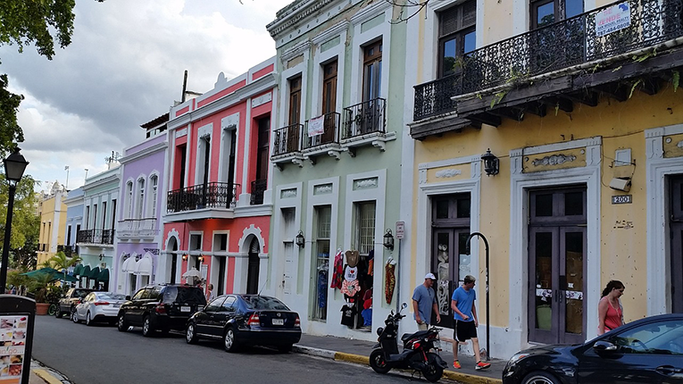 Colorful buildings in San Juan, Puerto Rico