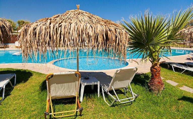 Beach resort in the Caribbean.