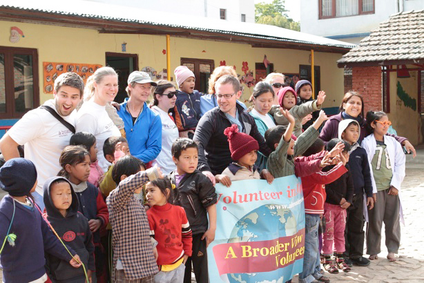 Medical mission volunteers and patients in Nepal