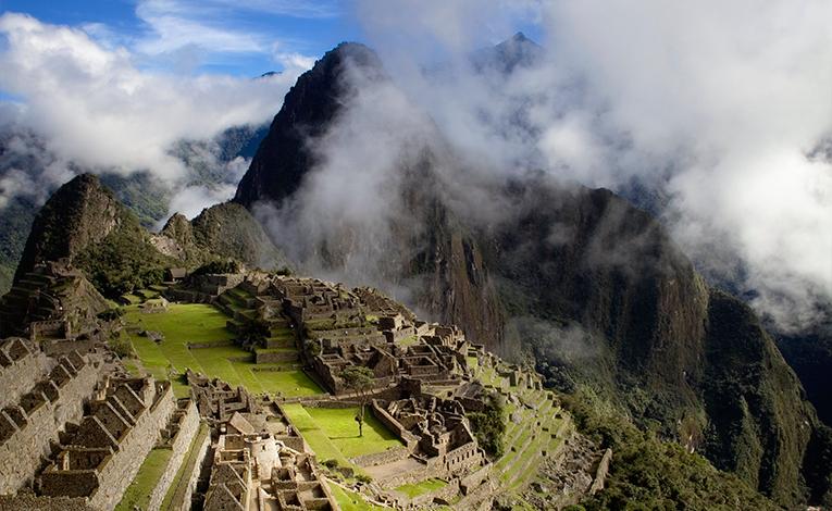View of Machu Picchu in Peru