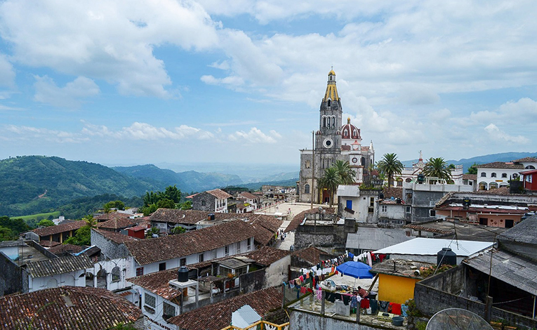 View of Cuetzalan, Mexico