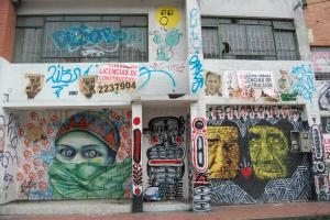 Bogotá, Colombia Street Graffiti.