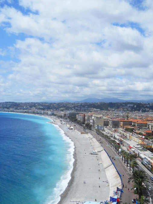 View of the Mediterranean Sea from Castle Hill in Nice, France