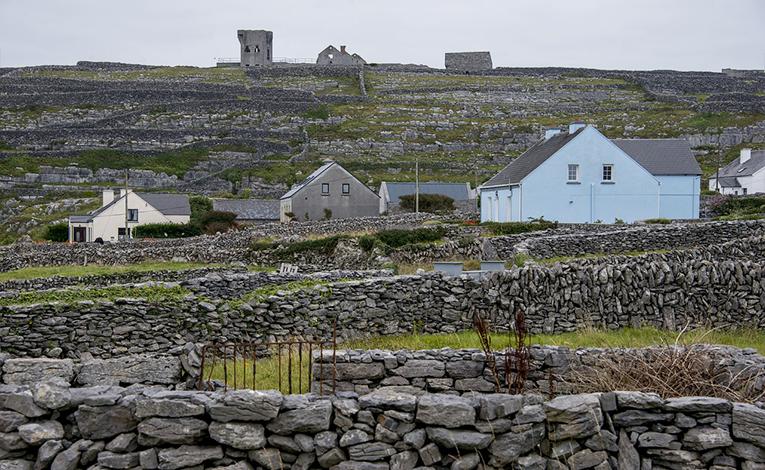 Houses on the Aran Islands