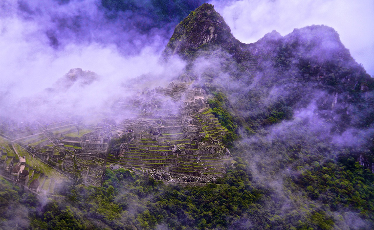 foggy and smoggy machu picchu