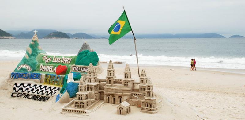 A day at the beach at Rio de Janeiro.