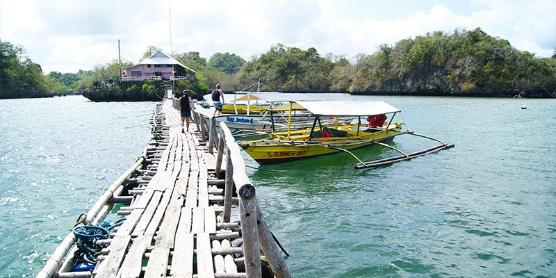 Fish sanctuary in Guimaras surrounded by beautiful islets.