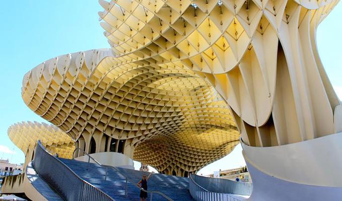 Metropol Parasol in Seville, Spain.