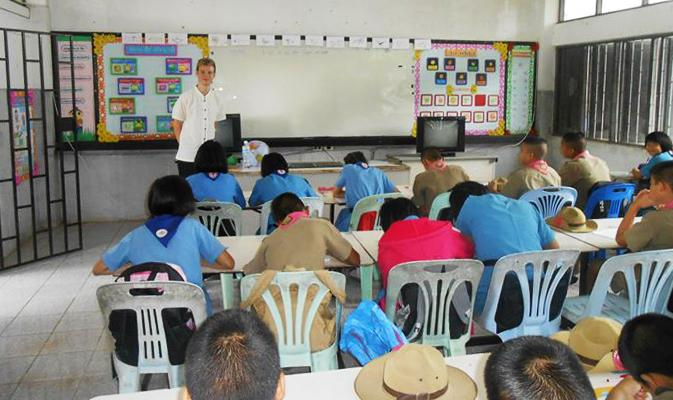 Teaching in a rural school outside of Chiang Rai.