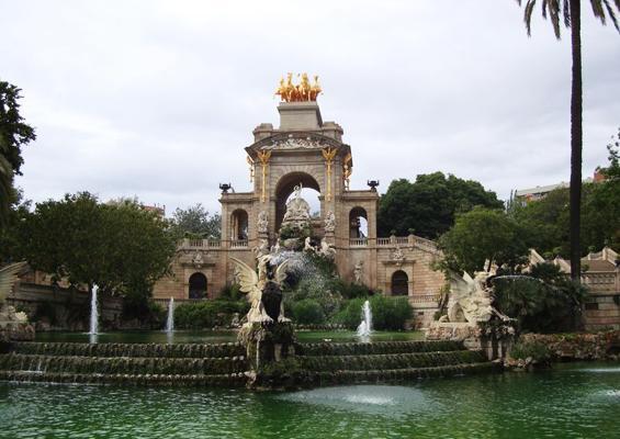 Parque de la Ciutadella in Barcelona, Spain