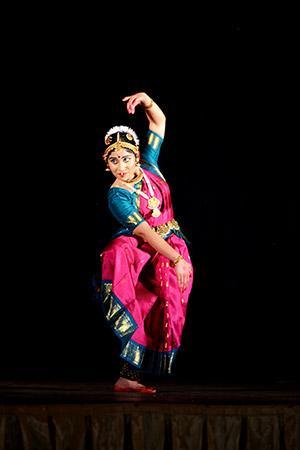 traditional Bharatanatyam dance, India