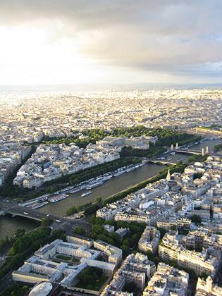 The city of Paris, a view from the Eiffel Tower.