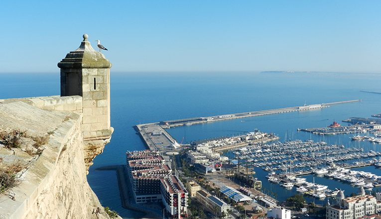 The view from the top of Santa Barbara Castle