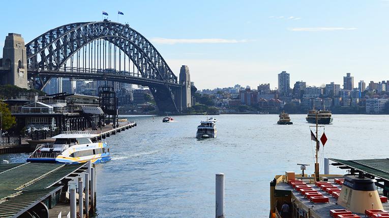 View of the Sydney Harbour Bridge in Australia
