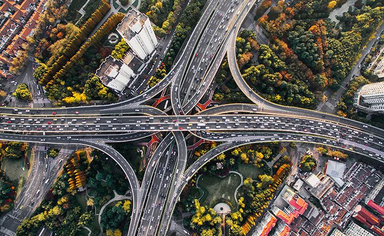 Motorway in Shanghai, China