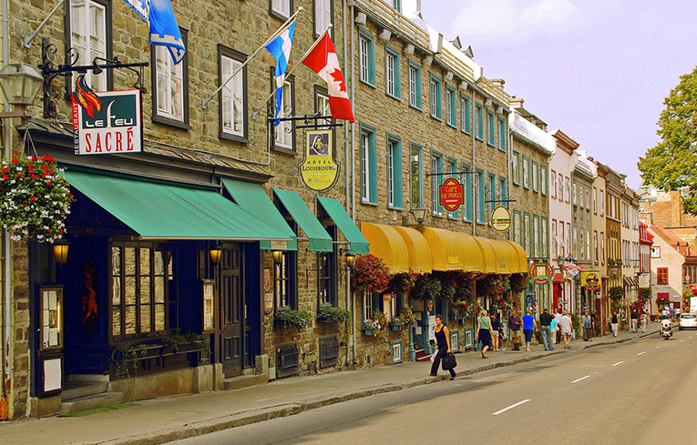 Street in Quebec, Canada