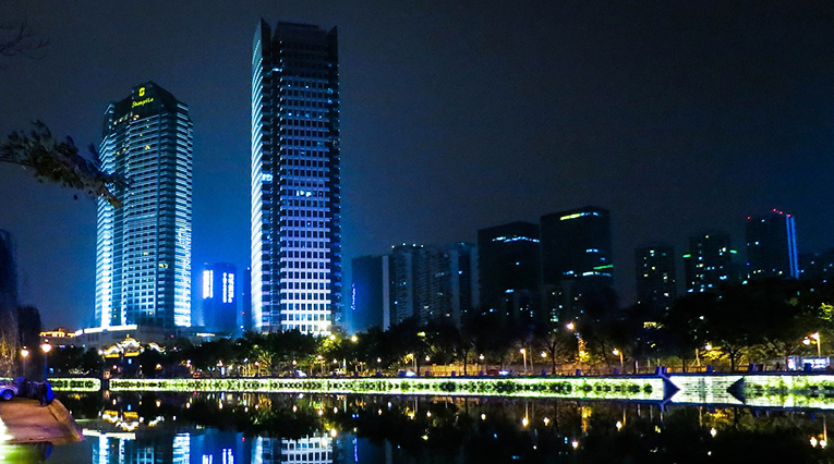 Chengdu night skyline