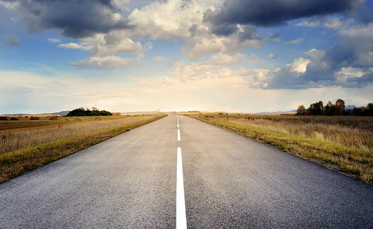 Highway leading into the horizon