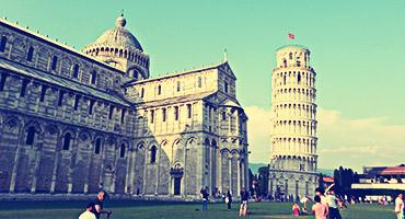 Earn a degree in Italy and visit its famous landmarks, such as the Leaning Tower of Pisa