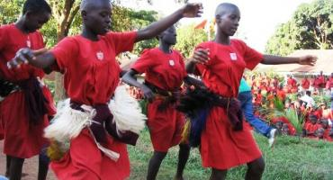 Traditional dance by students, Kampala