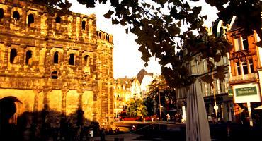 Take in the view of Porta Nigra, a large Roman City Gate in Trier, the oldest city in Germany.