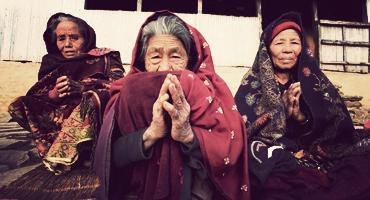 Women from a rural community in Rapasing, Nepal