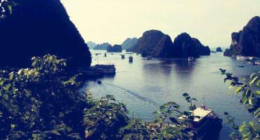 Ha Long Bay's peaceful waters in Hanoi, Vietnam