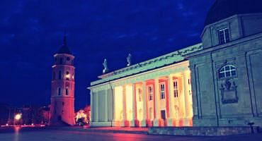 The Vilnius Cathedral in Lithuania