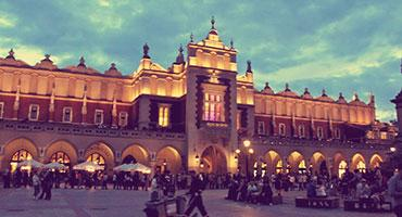 The Grand Market Hall in Krakow, Poland