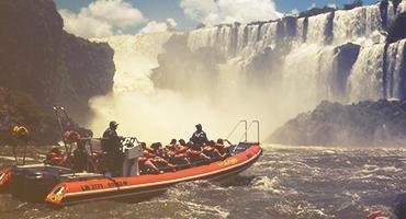 Group of people rafting