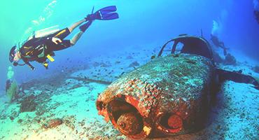 Underwater marine research.