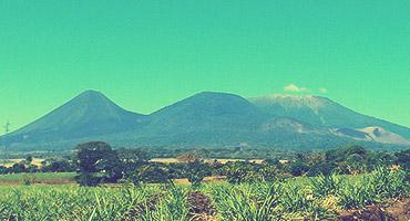 Mountain landscape in El Salvador