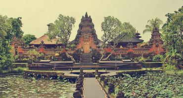 A temple located in Ubud, Indonesia