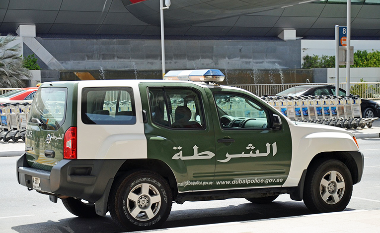 Police jeep in Dubai