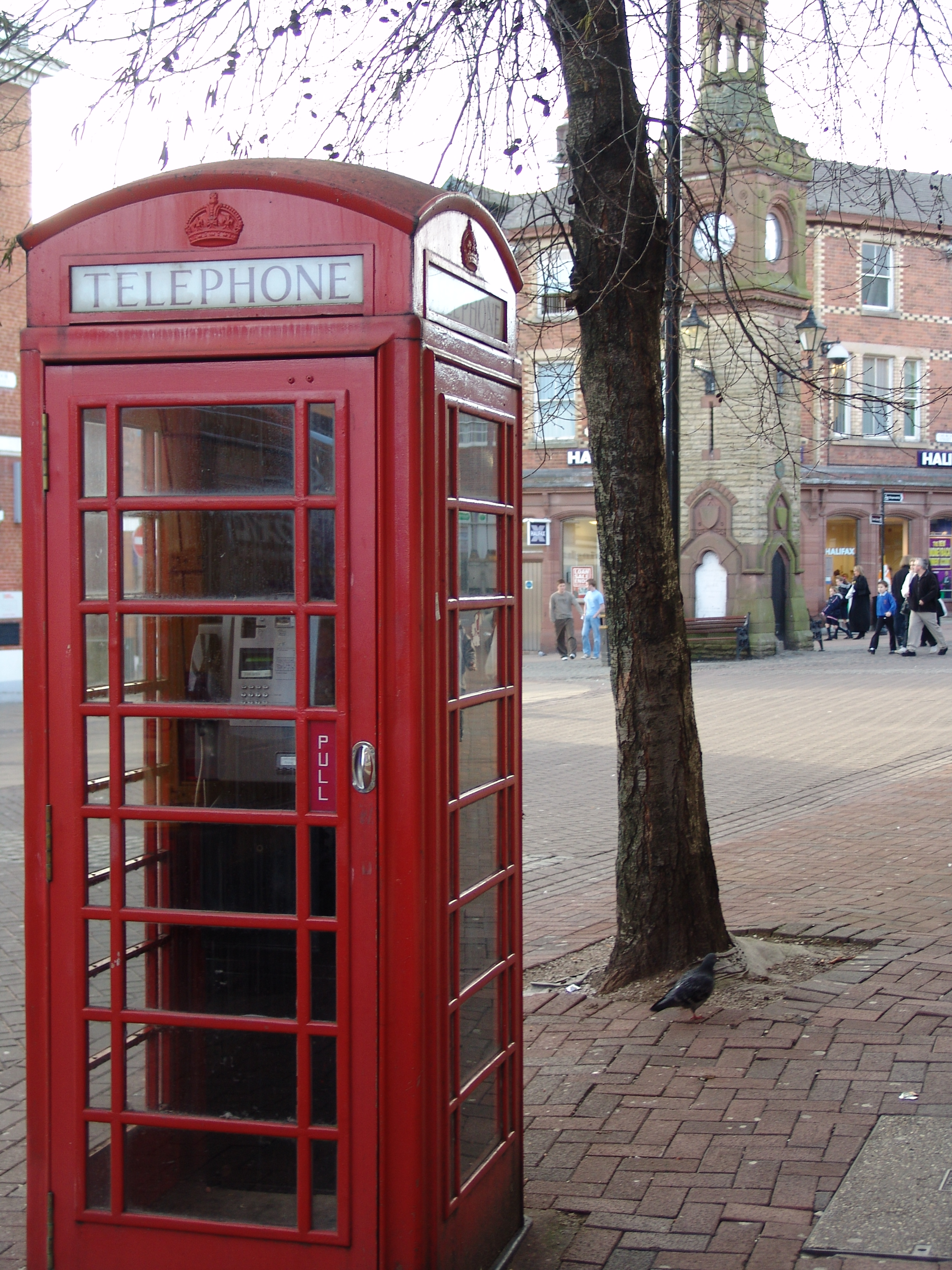 Red phone booth in England